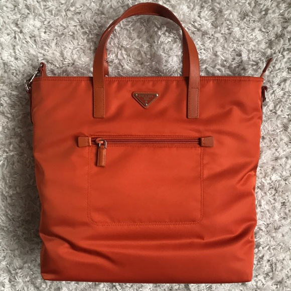 ee858bb264ba Prada Bags | Orange Tote New With Tags | Poshmark
